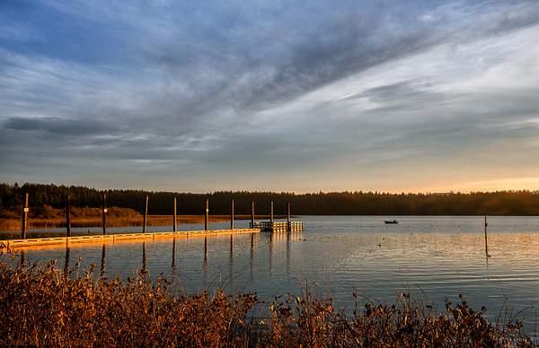 Fishing In Golden Morning Light