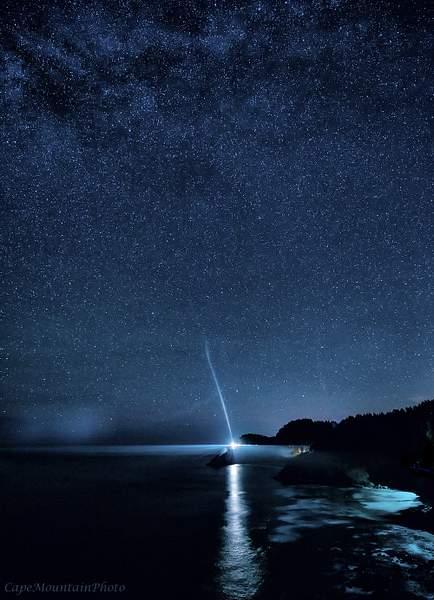 Stars and Lighthouse Beam SE
