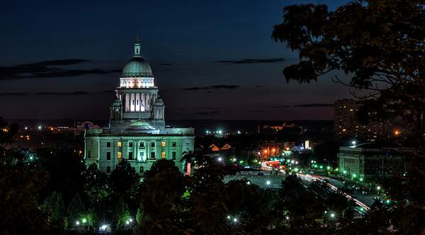 Providence State House At Night