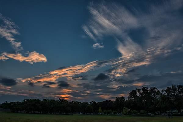 Sunset At Washington Monument HDR