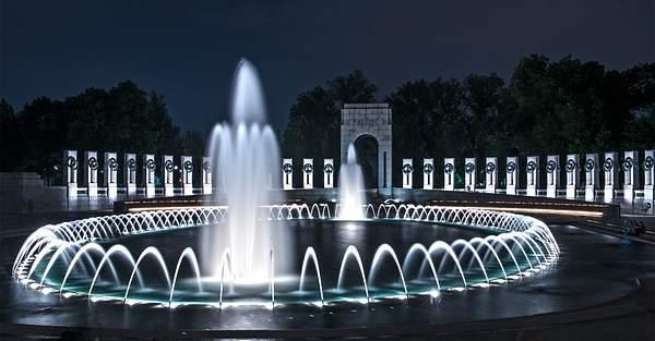 WW II Memorial At Night HDR