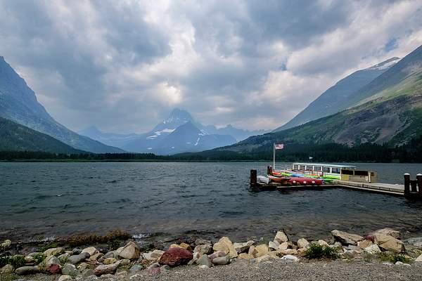 Boats Ready At Many Glaciers Motel