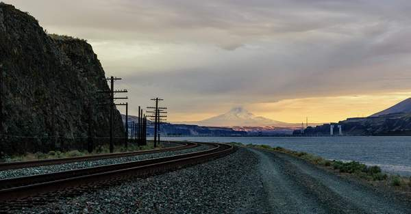 All Paths Lead To Mt Hood In the Golden Hour