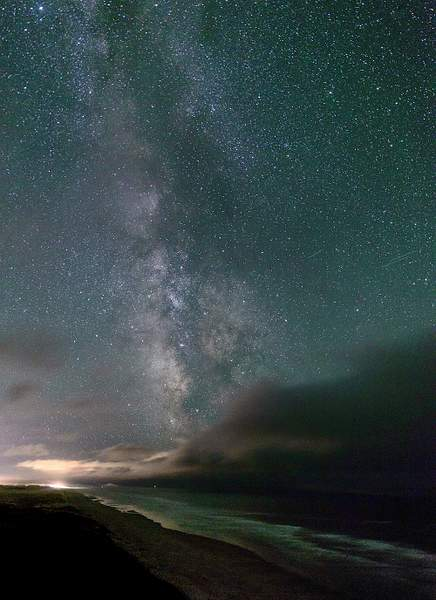 Clouds Coming In With Milky Way Vertical