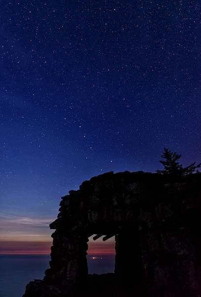 Twilight Big Dipper On Cape Perpetua