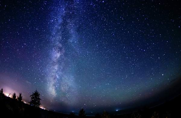 Fish Eye Milky Way