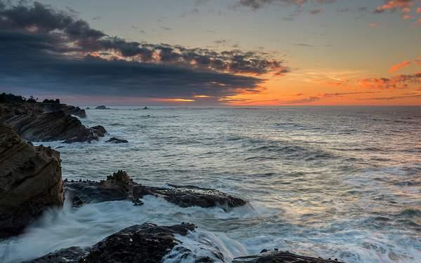 Shore Acres Sunset