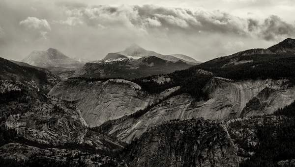 Storm in the Mountains b and w(