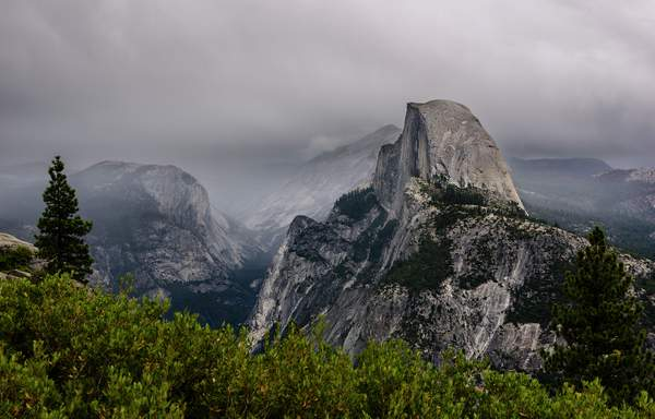 Stormy Morning On Glacier Point
