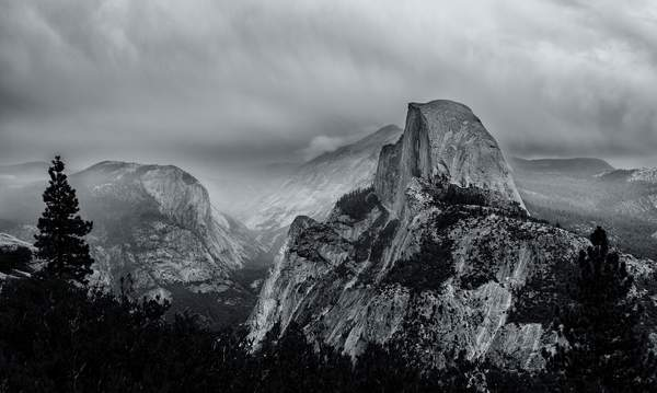 Stormy Morning On Glacier Point b and w