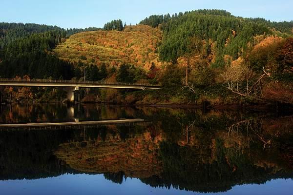 Mapleton Bridge Fall Reflections