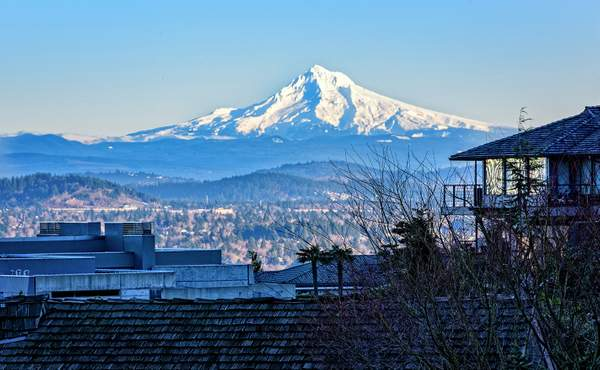 Mt Hood from the Deck