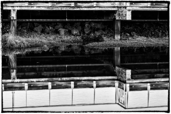 Black and White Under the Pier s (1 of 1)