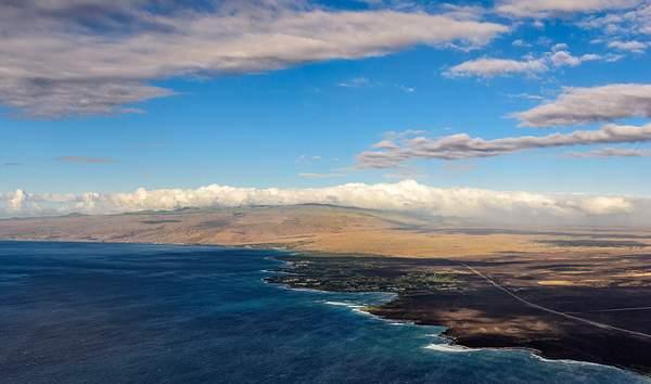 Hawaii Coast Line from Above)