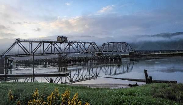 Fog At Train Bridge