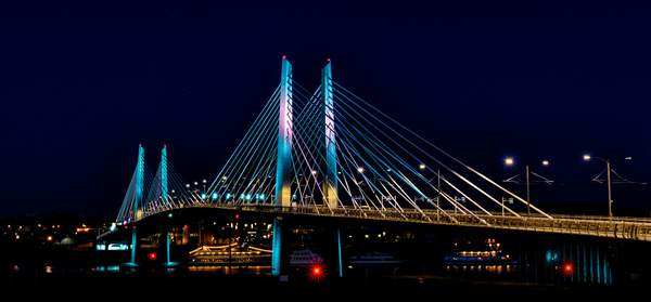 Tilikum Bridge at Night