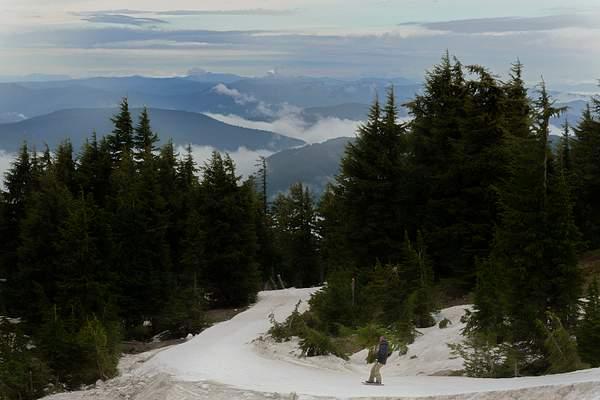 Foggy June Ski Day