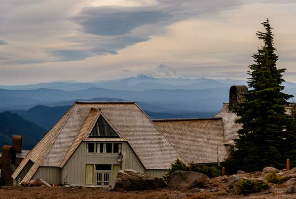 Timberline Lodge and Mt Jefferson