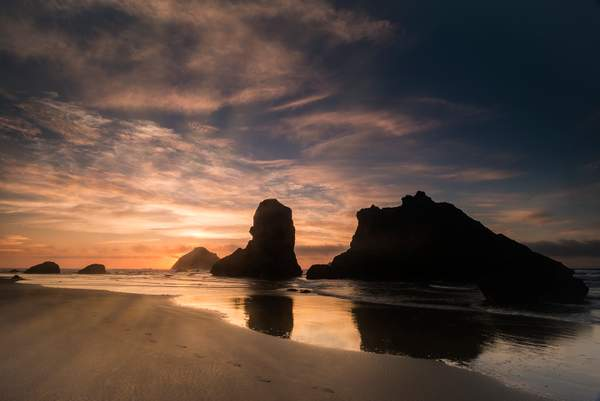 Bandon Rocks Sunset Remake
