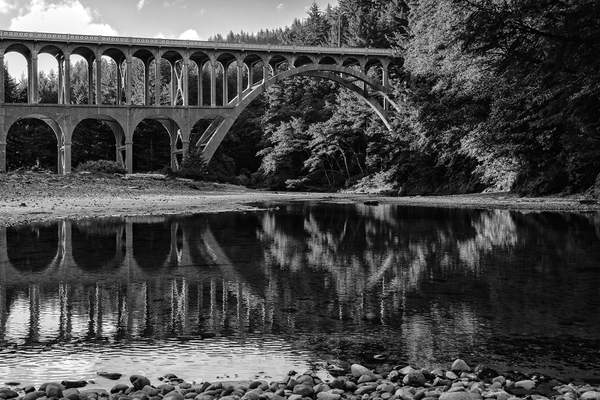 Black and White Cape Creek Reflections) copy