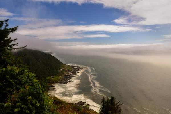 Foggy Cape Perpetua Down the Coast 2