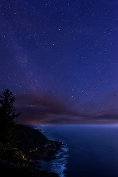 Fires Bring in Clouds Looking At Millky Way and Shooting Star