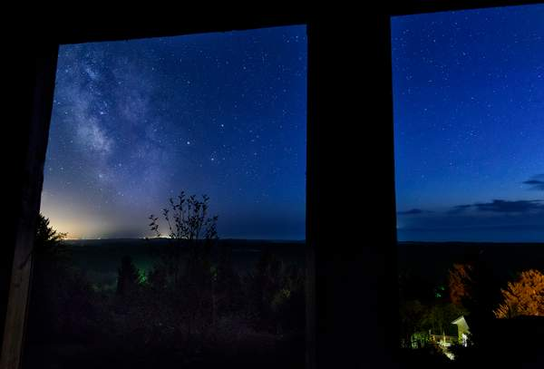 Nightime View Out the Windows