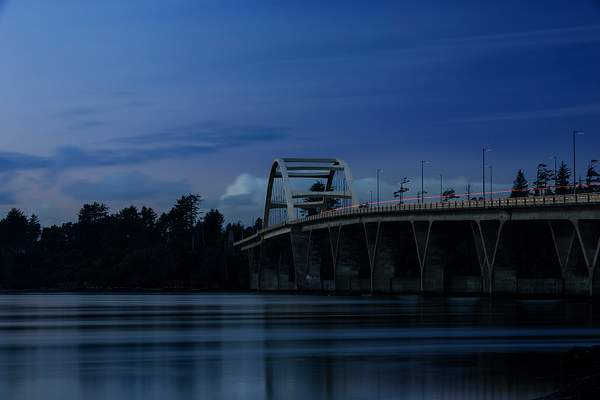 Blue Hour At the Bridge In Waldport