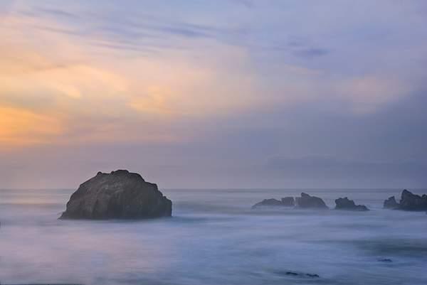 Face Rock Dreamy Sunset