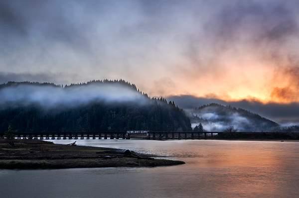 Foggy Dawn On Smith River