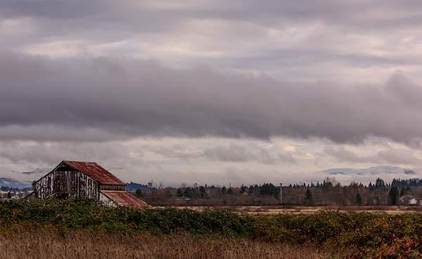 Old Barn and Eugene Hills