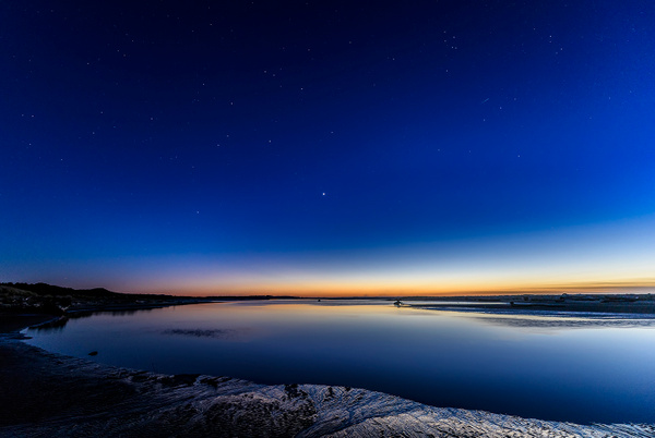 Stars Come Out Just After Sunset At Siltcoos Outlet