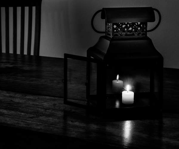 Candle Lantern for Black and White