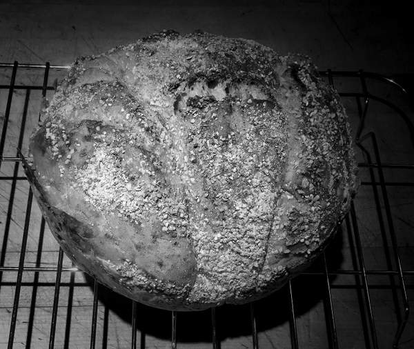 Black and White Fresh Bread