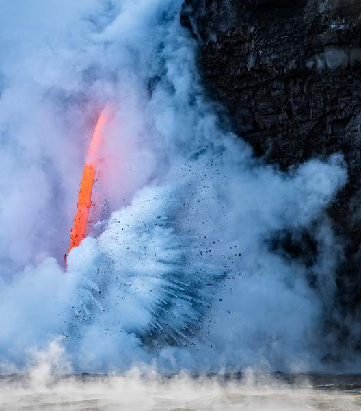 Lava from Boat