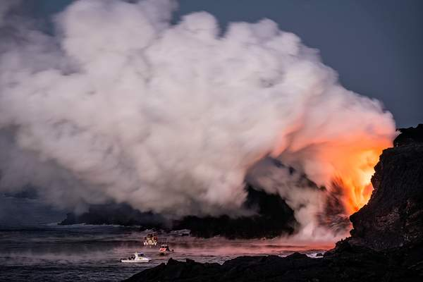 Morning Twilight Boat Trips to the Lava