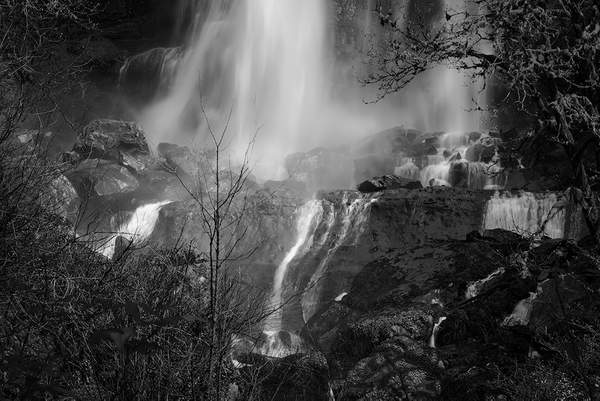 Black and White Mist at Silver Falls