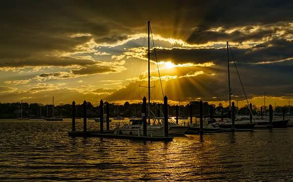 Sun Rays At Marina