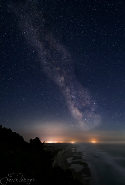 2017 Looking Down the Coast At the Milky Way