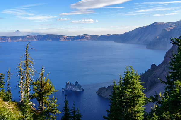 Phantom Ship and Mount Thielson At Crater Lake by jgpittenger