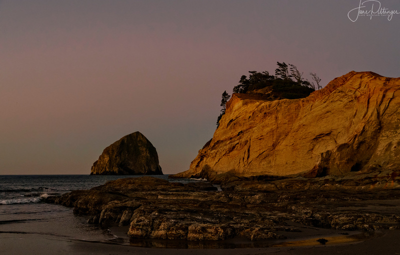 Dawn Light At Hay Stack Rock