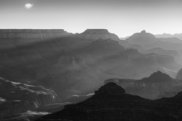 Black and White Rays At Yavapai Point
