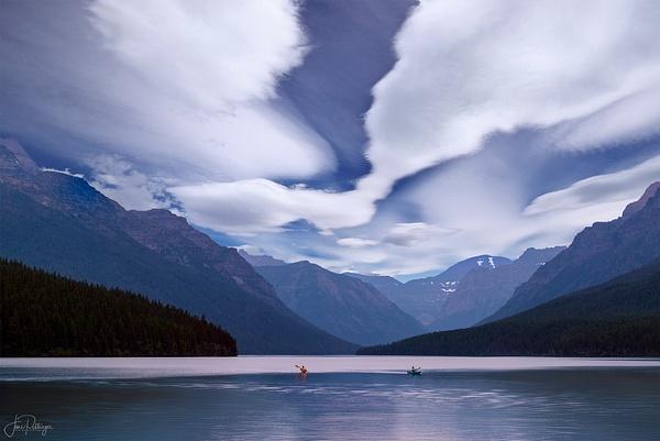 Kayakers At Bowman Lake 2021 Reedit