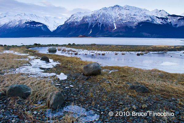 Chilkat Inlet and Pyramid Island by BruceFinocchio