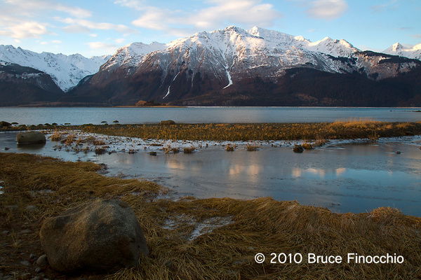 Chilkat River Mouth At Sunrise by BruceFinocchio