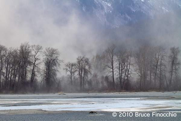 Dust Storm Over The Far Bank Of The Chilkat River
