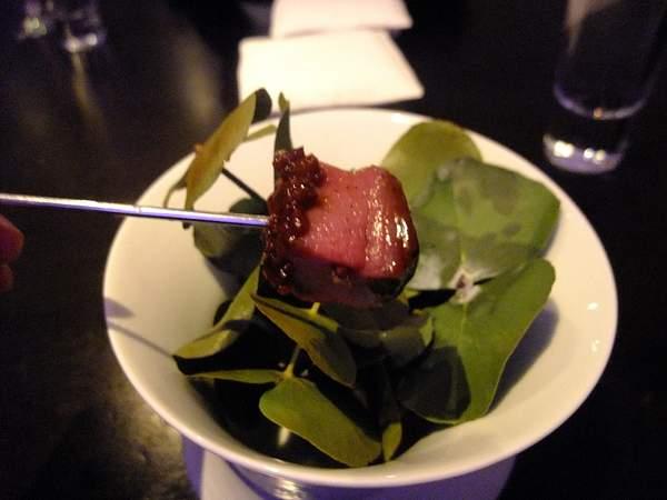Venison - cherry, cocoa nib, eucalyptus