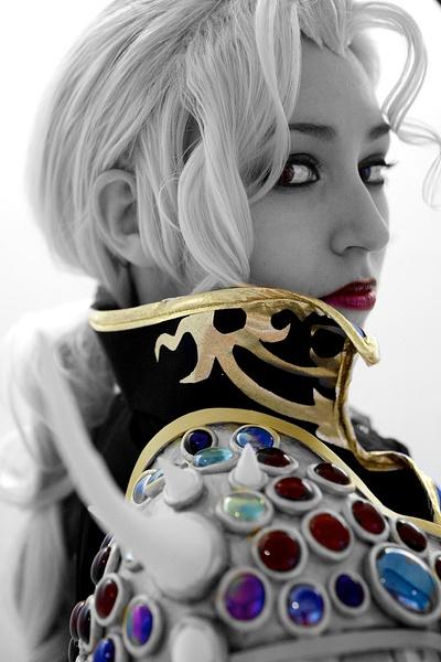 Blonde w jewels bw+c by Greg Edwards