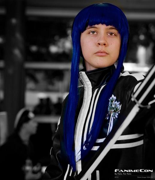 Grayman w blue hair by Greg Edwards