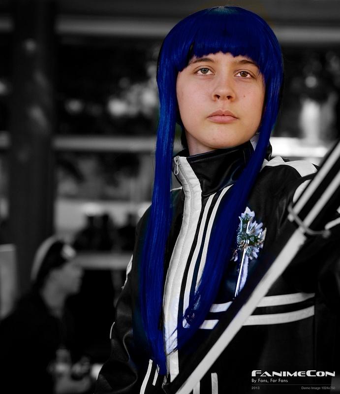 Grayman w blue hair